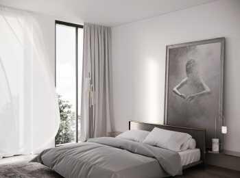 Отделка спальни в ЖК Вайт Хамовники